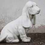 Skulptur Bassethund