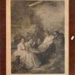 Tavla Graf blad 1800-tal Empire